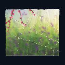 Gems of a Spring Morning Fleece Blanket