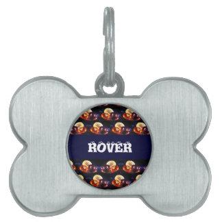 Gems pattern pet name tag