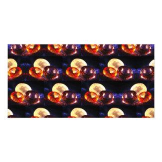 Gems pattern photo card