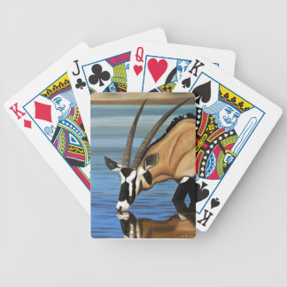 Gemsbok Africa Wild Life Animal Oil Painting Card Deck