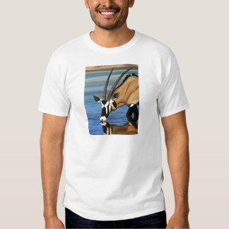 Gemsbok, Africa, Wild Life, Animal, Oil Painting Tee Shirt