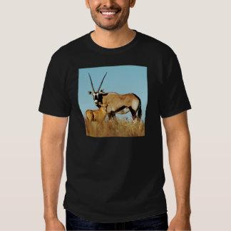 Gemsbok and calf wildlife safari t-shirts