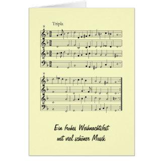 Gemshorn tarjeta de navidad