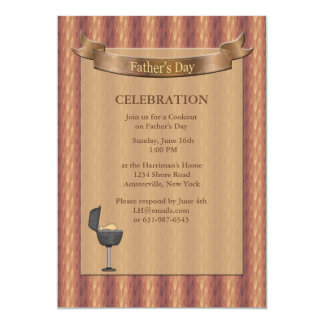 Gemstone Backing Father's Day Invitation