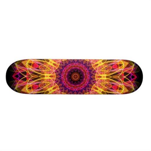 Gemstone Dream kaleidoscope Custom Skate Board