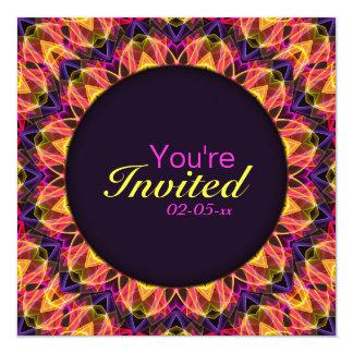 Gemstone Dream Mandala 5.25x5.25 Square Paper Invitation Card