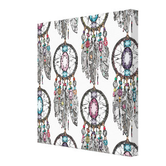 gemstone dreamcatcher gallery wrapped canvas
