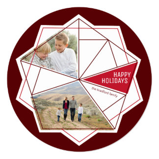 Gemstone Facets Non-Traditional Holiday Photo Card