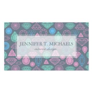 Gemstone Icon Pattern Business Card