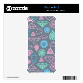 Gemstone Icon Pattern iPhone 4S Skin