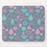 Gemstone Icon Pattern Mouse Pad