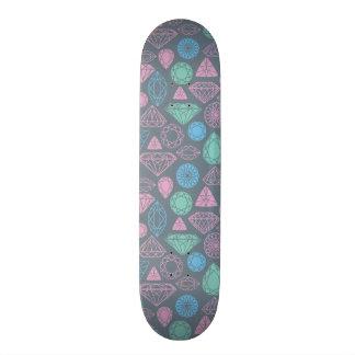 Gemstone Icon Pattern Skateboard Deck