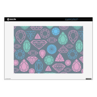 "Gemstone Icon Pattern Decals For 15"" Laptops"