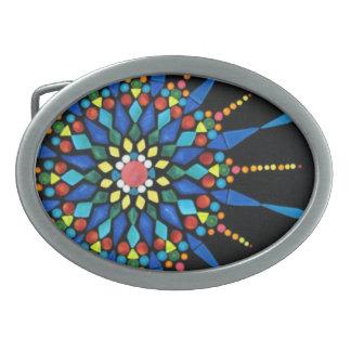 Gemstone Mosaic Painting Belt Buckles