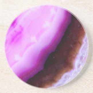 Gemstone Series - Agate in Purple Sandstone Coaster