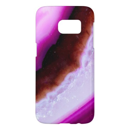 Gemstone Series - Purple Agate With Quartz Samsung Galaxy S7 Case