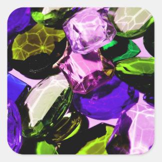 Gemstones Square Sticker