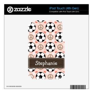 GEN 4g de la piel del tacto de iPod del fútbol del Calcomanías Para iPod Touch 4G