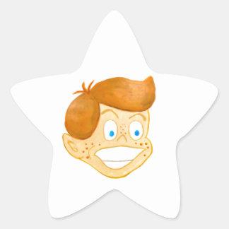 Gen afortunado pegatina en forma de estrella