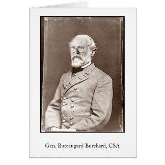 Gen. Bureaugard Burchard, CSA Card