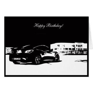 Gen Coupe Rear shot - Car themed Birthday Card