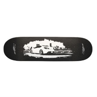 Gen Coupe Rear Shot with white Silhouette Logo Skateboard