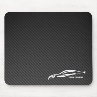 Gen Coupe White Silhouette Logo Mouse Pads