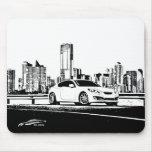Gen Coupe with City Scape backdrop Mousepad