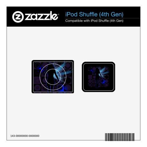 GEN de hadas coa alas azul del personalizado 4 iPod Shuffle Skins