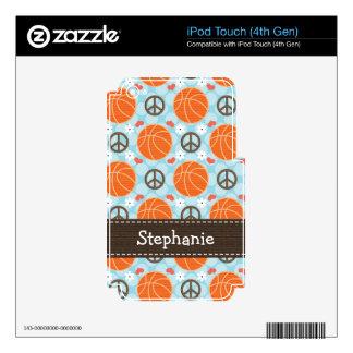 GEN de la piel 4g 4to del tacto de iPod del balonc Skins Para iPod Touch 4G