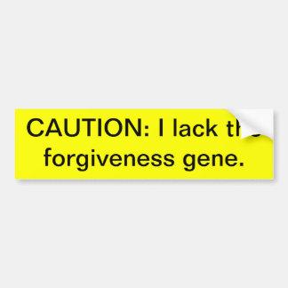 Gen del perdón de la falta pegatina de parachoque