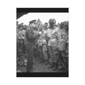 Gen. Dwight D. Eisenhower gives the order_War Imag Canvas Print