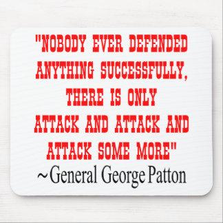 GEN George Patton del ataque del ataque del ataque Alfombrillas De Raton