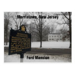 Gen George Washington's HQ 1779-80 Morristown, NJ Post Card
