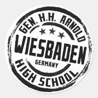 Gen HH Arnold High School Classic Round Sticker