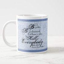"Gen. James Mattis ""Be Polite..."" w/ Floral Accents Giant Coffee Mug"