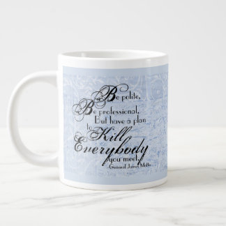 Gen. James Mattis Quote on Floral Background Large Coffee Mug