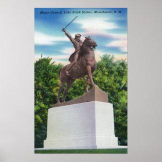 Gen John Stark Statue View Poster
