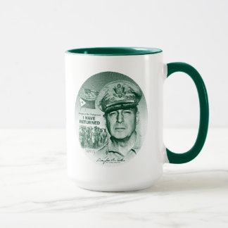 Gen. MacArthur I Have Returned (Green Print) Mug