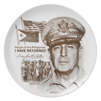 Gen. MacArthur I Have Returned (Sepia Print) Plate