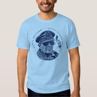 Gen. MacArthur I Shall Return (Blue Print) Shirts