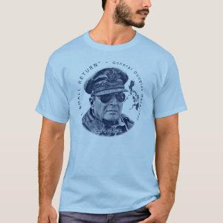 Gen. MacArthur I Shall Return (Blue Print) T-Shirt