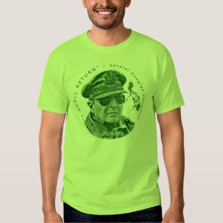 Gen. MacArthur I Shall Return (Green Print) Shirt