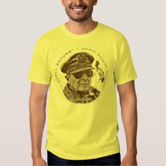 Gen. MacArthur I Shall Return (Sepia Print) Shirts