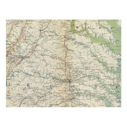 Gen map II Postcard