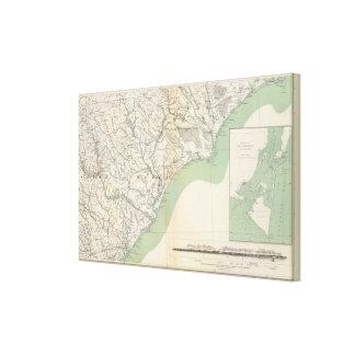 Gen map IV Canvas Print
