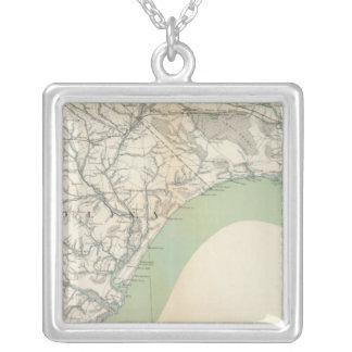 Gen map IV Square Pendant Necklace