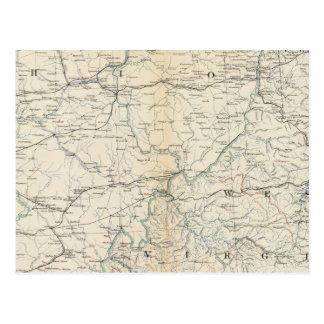 Gen map V Postcard
