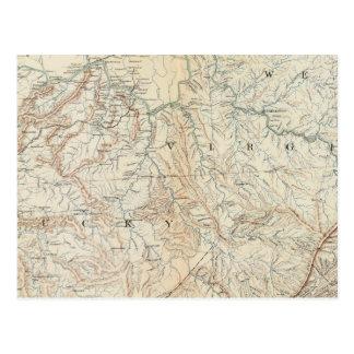 Gen map VI Postcard