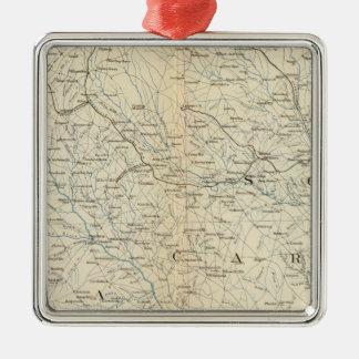 Gen map VIII Metal Ornament